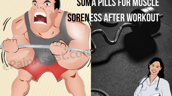 Soma pill for muscle soreness after workout